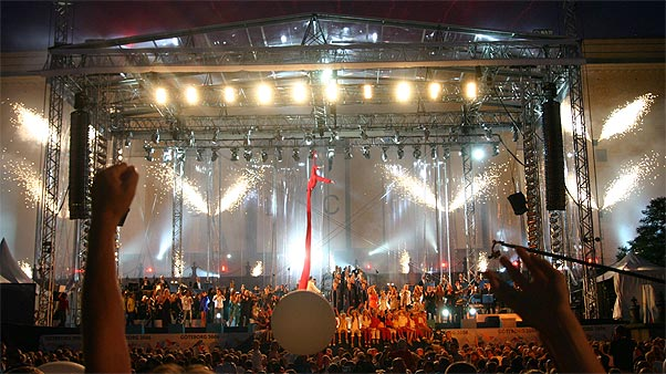 Opening of the European Championship in Athletics in Gothenburg 2006 (both set and lightdesign)